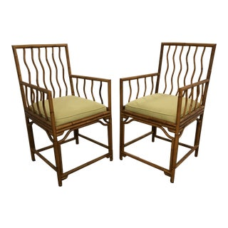 Palacek Piercemartin Bamboo Arm Chairs - a Pair For Sale