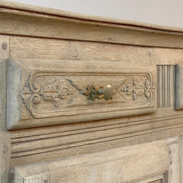 Gray 19th Century Rustic Regence Stripped Oak Buffet For Sale - Image 8 of 12
