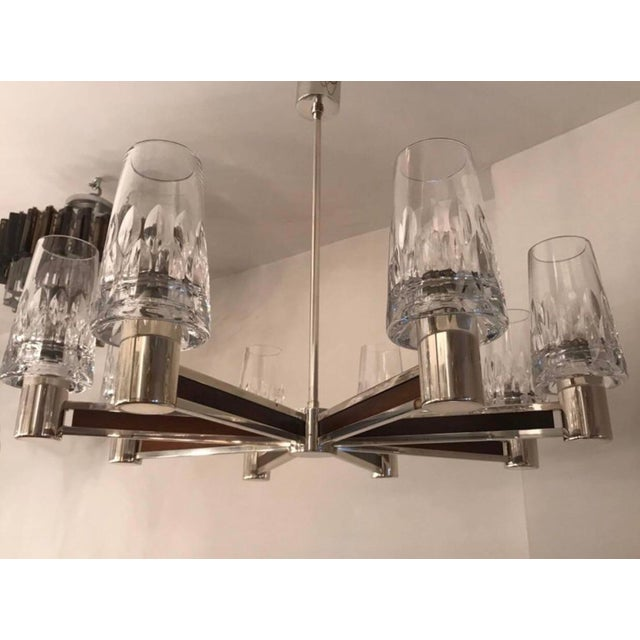 1970s German High Style Crystal Chandelier For Sale - Image 9 of 10