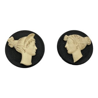 Vintage Greco-Roman Plaques - Set of 2 For Sale
