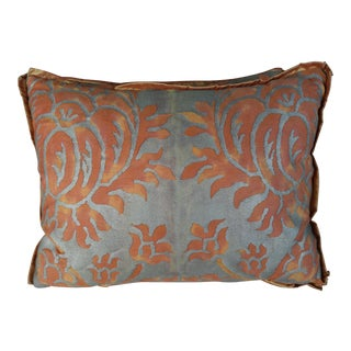 Bittersweet & Silvery Gold Fortuny Pillows - a Pair