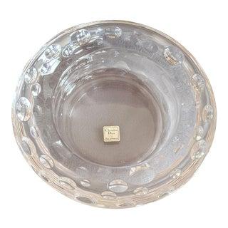 Christian Dior Dolce Vita Pattern Blown Glass Bowl For Sale