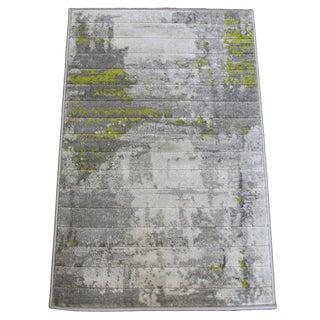 Abstract Art Green Rug - 5x8