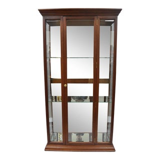20th Century Traditional Mahogany Wood & Mirror Glass Display Cabinet For Sale