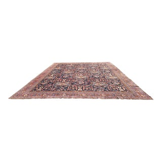 12'8'' X 16' Antique Persian Sultanabad Mahal Hand Made Knotted Rug - Size Cat. 12x15 12x17 12x18 For Sale