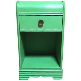 Vintage 1940s Green Side Table - Image 1 of 5