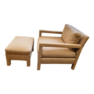 1970s Milo Baughman Parsons Chair and Ottoman For Sale