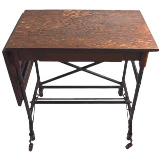 Turn of the Century Industrial Work Table For Sale