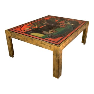 Contemporary Chinese Inspired Cocktail Table For Sale