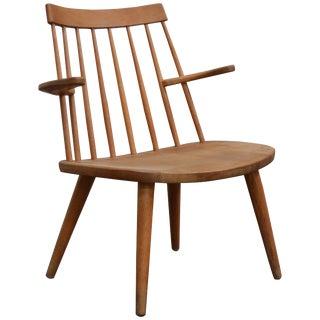 "Oak Easy Chair by Yngve Ekström Model ""Sibbo,"" Circa 1950s For Sale"