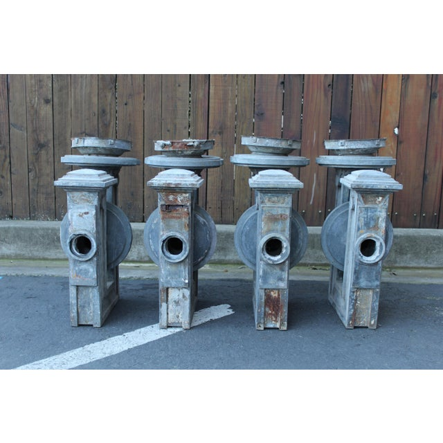 Rustic Set of Four Tin Sconces For Sale - Image 3 of 8
