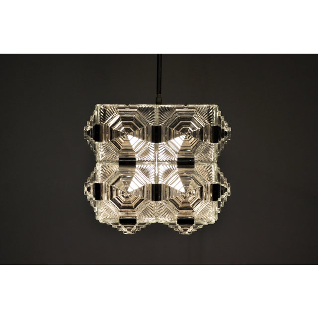 Czech Cast Glass Ceiling Lamp For Sale In Chicago - Image 6 of 13