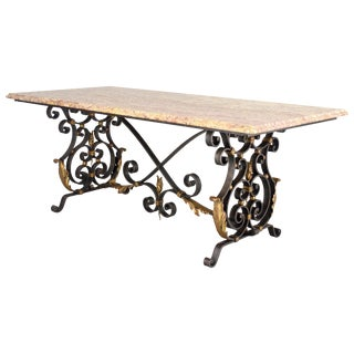 French Wrought Iron Center Table For Sale