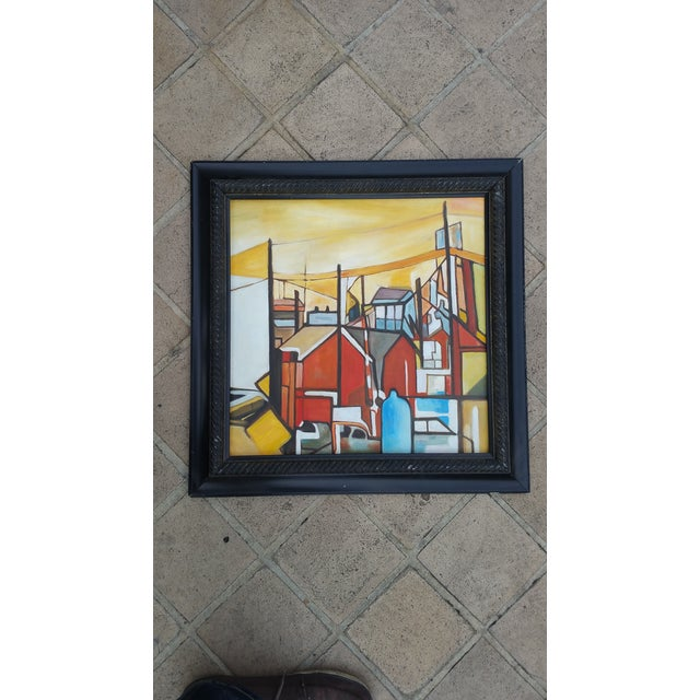 Factory Chimney Oil Painting - Image 2 of 4