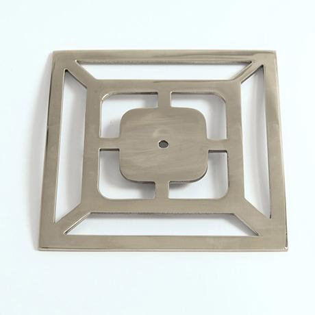 """Not Yet Made - Made To Order Addison Weeks Benson 5"""" Backplate - Polished Nickel For Sale - Image 5 of 5"""