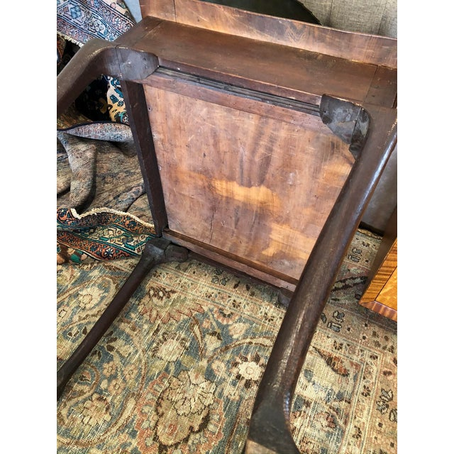 Brown Antique English Farmhouse Mahogany Writing Table For Sale - Image 8 of 13