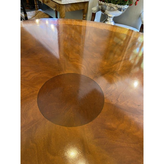 Metal 1920s Traditional Round Mahogany Dining Table For Sale - Image 7 of 12