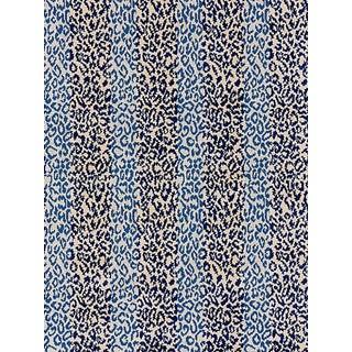 Sample, Scalamandre Corbet Jacquard, Blue For Sale