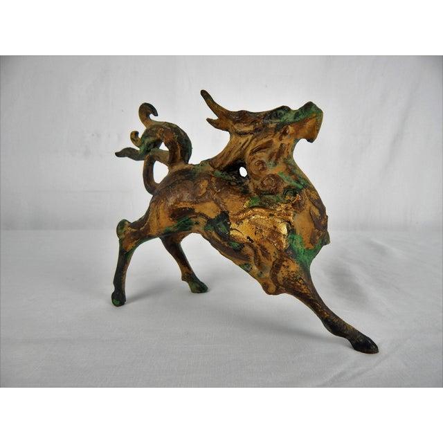 Metal Asian Metal Prancing Horse Figure For Sale - Image 7 of 9