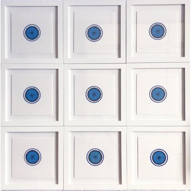 Wood Natasha Mistry Minimalist Geometric Ink Drawings - Set of 9 For Sale - Image 7 of 10