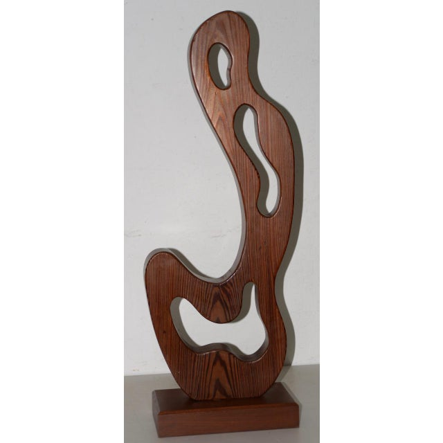 Marguerite Louis Blasingame Abstract Figure Wooden Sculpture C.1940s For Sale In San Francisco - Image 6 of 6