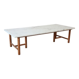 Robsjohn-Gibbings for Widdicomb Marble Top Coffee Table For Sale
