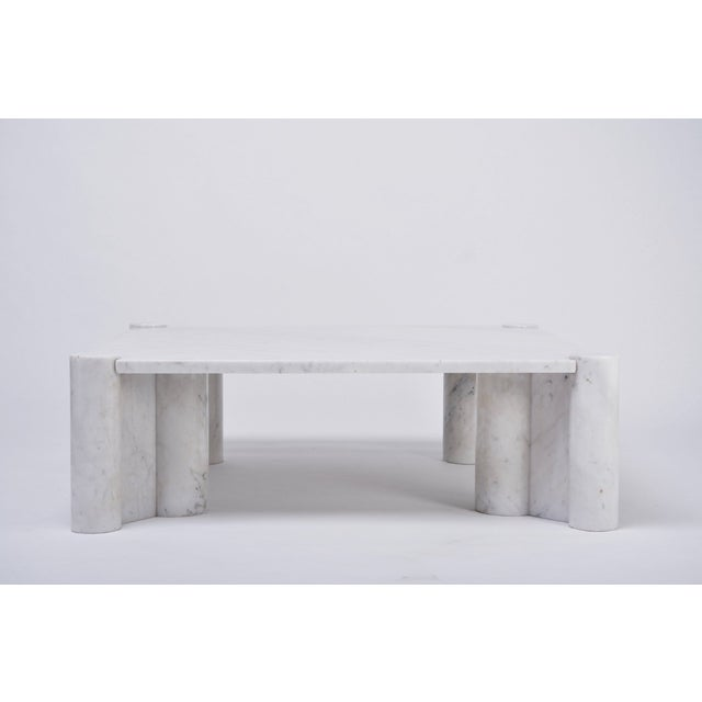 Jumbo White Marble Coffee Table by Gae Aulenti, 1970s For Sale - Image 6 of 11