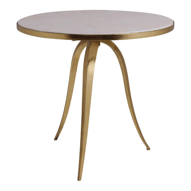 Artistca Home Crystal Stone Round End Table For Sale
