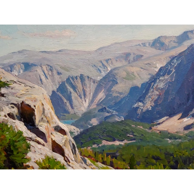 Americana 1970s Vintage Taylor Lynde Montana Lake Scenery Oil Painting For Sale - Image 3 of 10