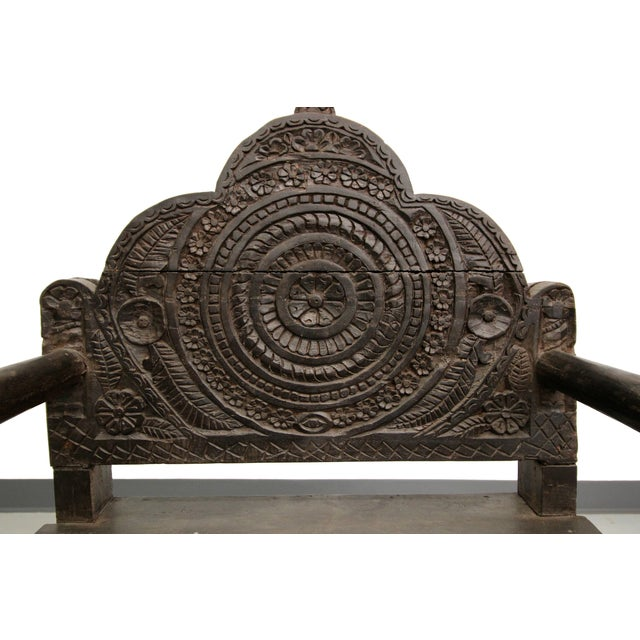 Antique Carved Wood Occasional Chairs - A Pair - Image 9 of 11