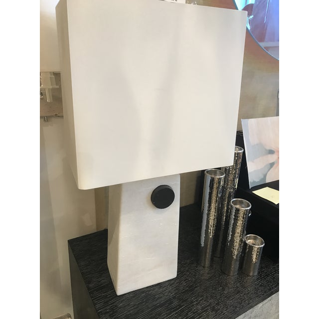 Beautiful, modern and minimalistic, this table lamp is an excellent fit for a modern contemporary aesthetic. The paper...
