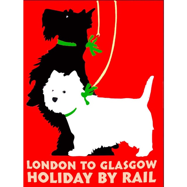 """Matted and Framed Vintage """"London to Glasgow"""" Travel Poster - Image 5 of 5"""