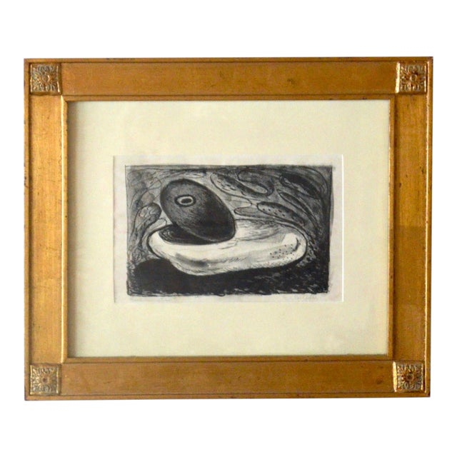 Emerson Woelffer Graphite on Paper, 'Rock Formation' C 1950s For Sale