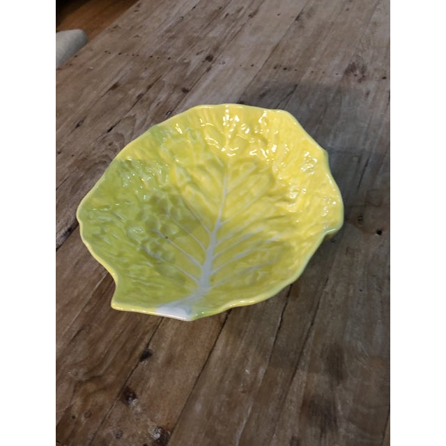 Ceramic 1960s Vintage Yellow Cabbage Platter For Sale - Image 7 of 7