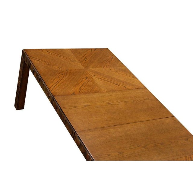 Refinished Vintage Lane Brutalist Dining Table - Image 2 of 4