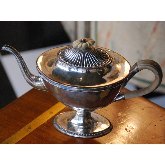 Traditional Silver Plated Tea Pot For Sale - Image 3 of 4