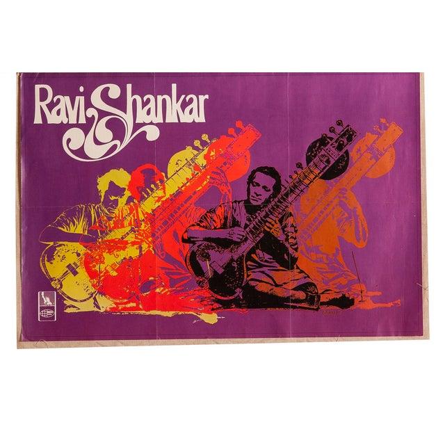Vintage Ravi Shankar Music Poster For Sale