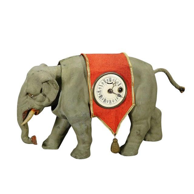Rare Antique Elephant Clock, Circa 1920 For Sale