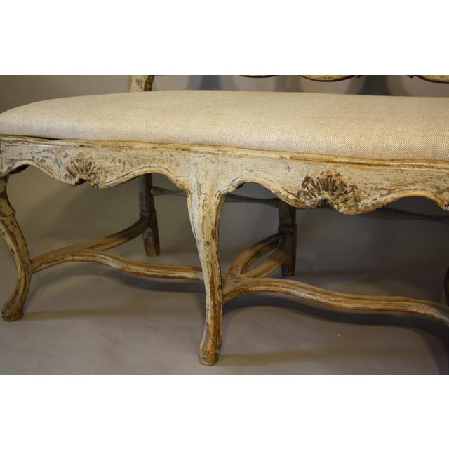 19th C Portuguese Carved Wood Bench For Sale - Image 9 of 11