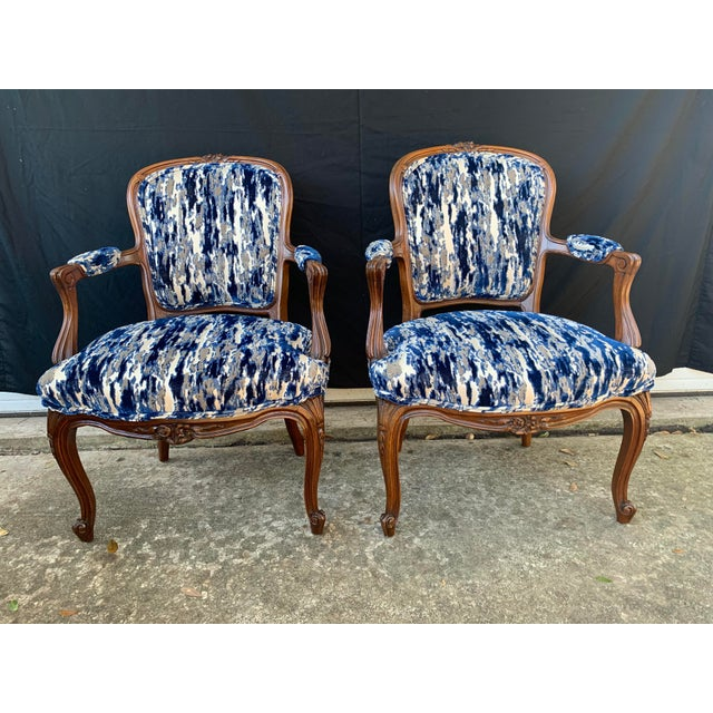 Antique French Carved Bergere Chairs-Pair For Sale - Image 13 of 13