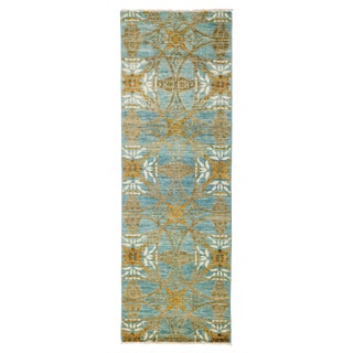 "Suzani Hand Knotted Runner - 2'7"" X 7'9"" For Sale"