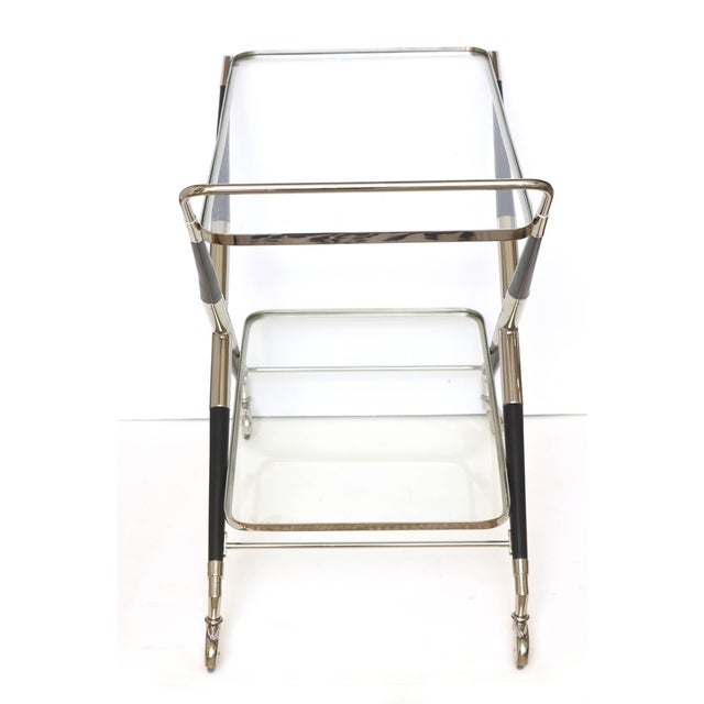 1950s Italian Cesare Lacca Midcentury Bar Cart For Sale - Image 5 of 11