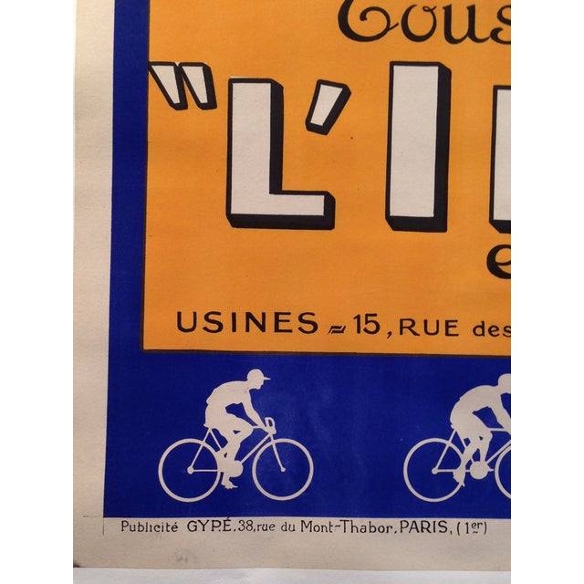 Vintage French L'Inder Bike Poster - Image 4 of 8