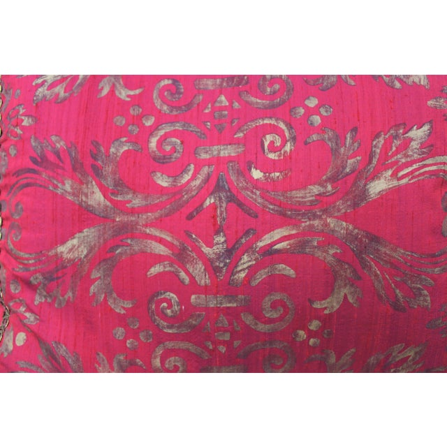 Isabelle H. Fortuny Style Hand-Painted Cherry Pillow Cover For Sale - Image 4 of 8