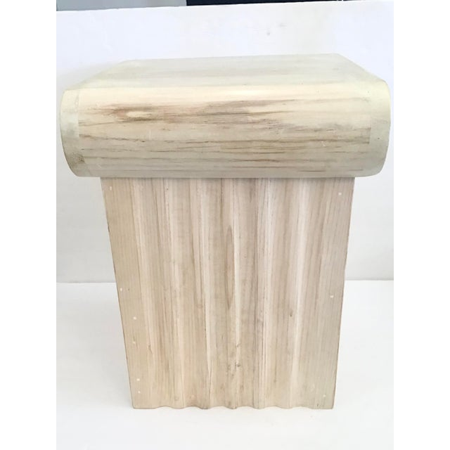 Ionic Column Form Wood Storage Cocktail Table With Removable Capital Top For Sale In West Palm - Image 6 of 10