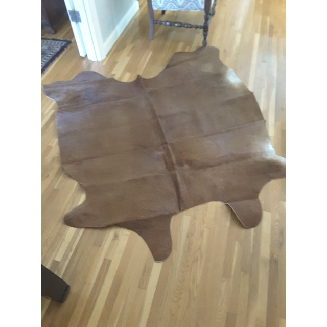 Argentinian Tan Cowhide Leather Rug - 5' x 7' - Image 2 of 5