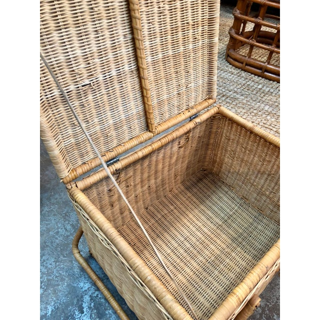 French Rattan Picnic /Trunk Basket For Sale - Image 4 of 8