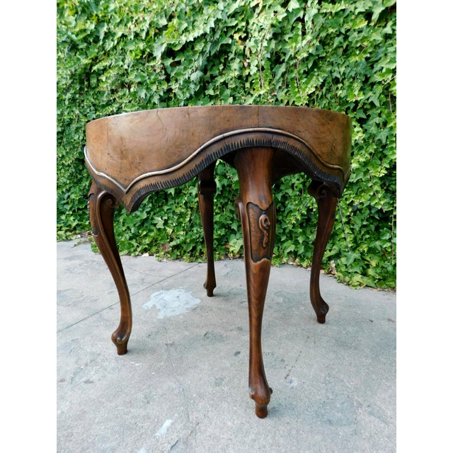 Italian Wood Side Table For Sale - Image 9 of 11