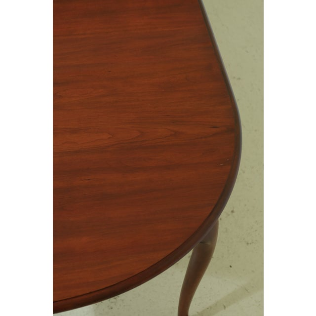 Henkel Harris Oval Cherry Model 2206 Dining Room Table For Sale - Image 11 of 12