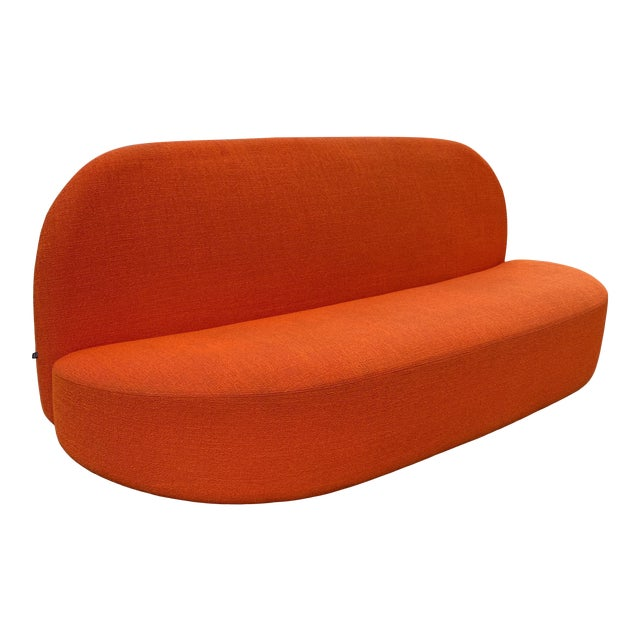 Pierre Paulin Orange Loveseat For Sale